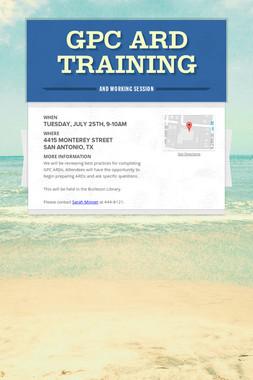 GPC ARD Training