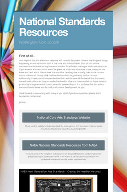 National Standards Resources