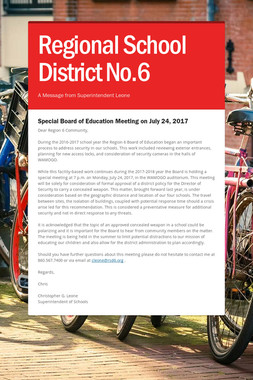 Regional School District No.6