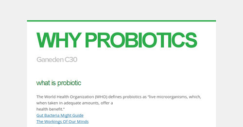 Gut Bacteria Might Guide Workings Of >> Why Probiotics
