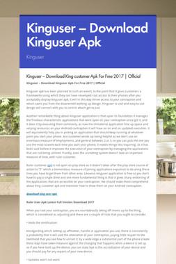 Kinguser – Download Kinguser  Apk