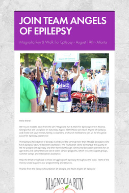 JOIN TEAM ANGELS OF EPILEPSY