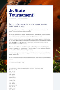 Jr. State Tournament!