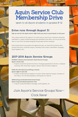 Aquin Service Club Membership Drive