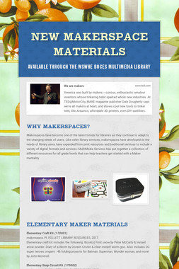 NEW Makerspace Materials