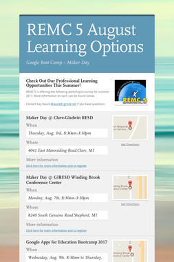 REMC 5  August Learning Options