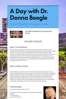 A Day with Dr.  Donna Beegle