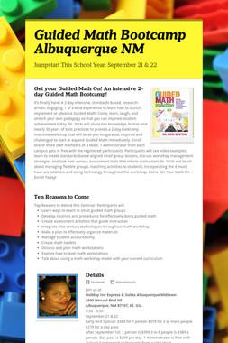 Guided Math Bootcamp Albuquerque NM