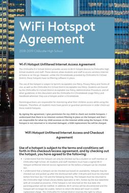 WiFi Hotspot Agreement