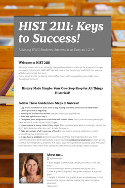 HIST 2111: Keys to Success!