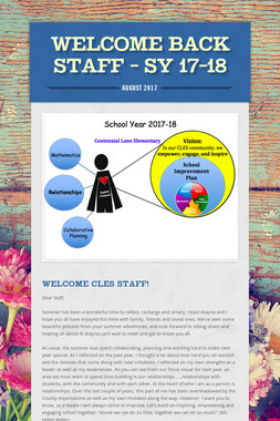 Welcome Back Staff - SY 17-18