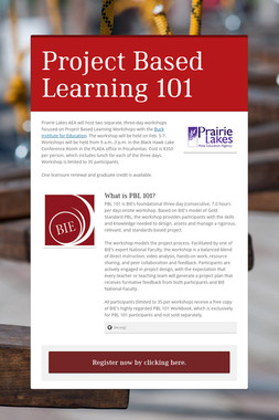 Project Based Learning 101