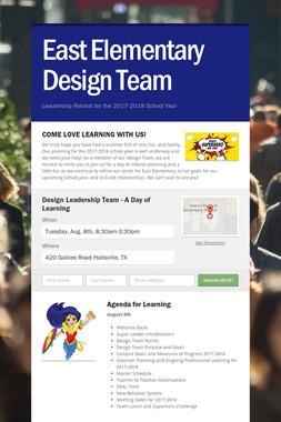 East Elementary Design Team