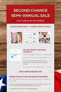 Second Chance Semi-Annual Sale