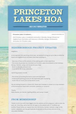 Princeton Lakes HOA