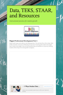 Data, TEKS, STAAR, and Resources
