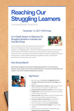 Reaching Our Struggling Learners