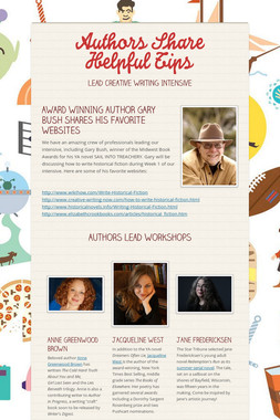 Authors Share Helpful Tips