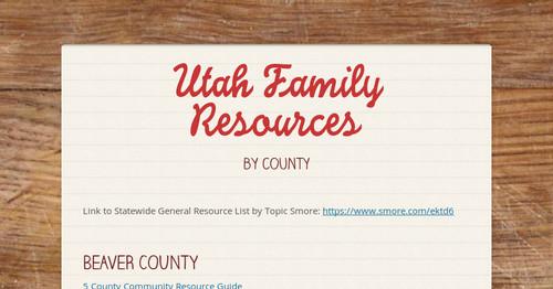 Utah Family Resources