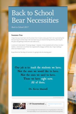 Back to School Bear Necessities