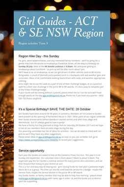 Girl Guides - ACT & SE NSW Region