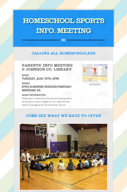 HOMESCHOOL SPORTS INFO. MEETING