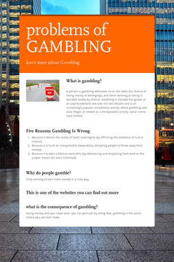 problems of GAMBLING