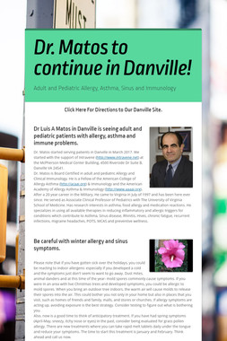 Dr. Matos to continue in Danville!