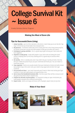 College Survival Kit ~ Issue 6