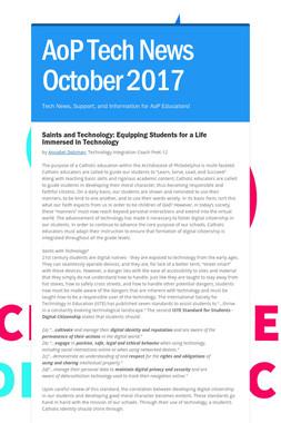 AoP Tech News October 2017