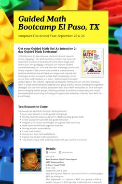 Guided Math Bootcamp El Paso, TX