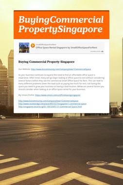 BuyingCommercial PropertySingapore