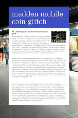 madden mobile coin glitch