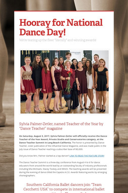 Hooray for National Dance Day!