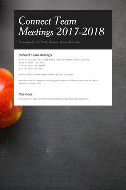 Connect Team Meetings 2017-2018