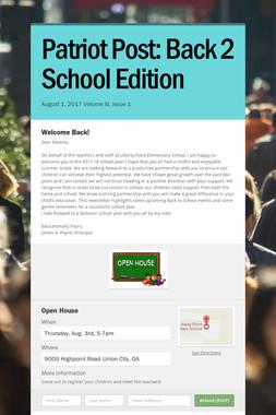 Patriot Post: Back 2 School Edition