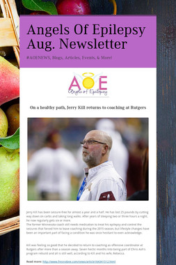 Angels Of Epilepsy Aug. Newsletter