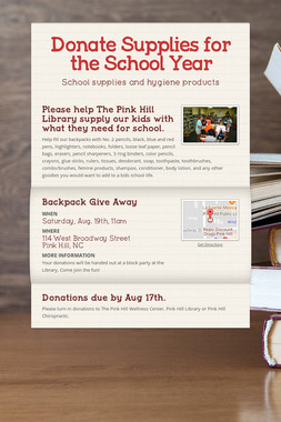 Donate Supplies for the School Year