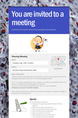 You are invited to a meeting