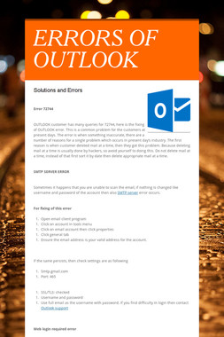ERRORS OF OUTLOOK