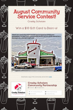 August Community Service Contest!