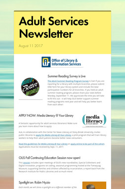 Adult Services Newsletter