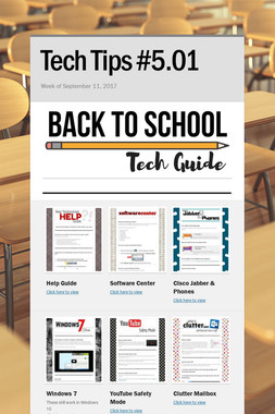 Tech Tips #5.01
