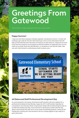 Greetings From Gatewood