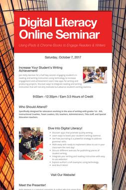 Digital Literacy Online Seminar