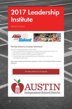 2017 Leadership Institute