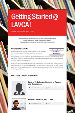 Getting Started @ LAVCA!