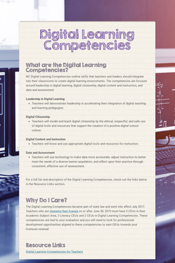 Digital Learning Competencies