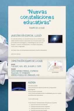 """""""Nuevas constelaciones educativas"""""""