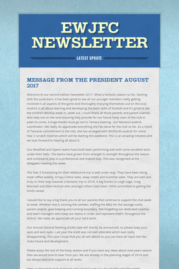 EWJFC Newsletter